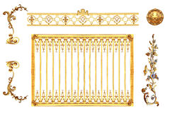 Isolerad guld- detalj royaltyfri bild