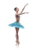Isolerad härlig balettdansör Royaltyfri Fotografi
