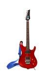 isolerad härlig elektrisk gitarr Fotografering för Bildbyråer