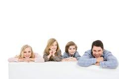 Isolerad härlig familj Royaltyfria Foton