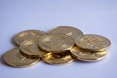 Isolerad hög av crypto valuta Royaltyfri Foto