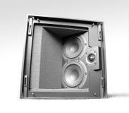 isolerad högtalare Fotografering för Bildbyråer
