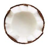 Isolerad halva av kokosnöten Royaltyfria Bilder