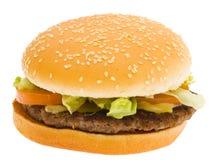 isolerad hamburgare Arkivbild