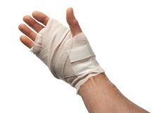 isolerad hand som såras Royaltyfri Fotografi