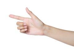 Isolerad handpekande riktning Royaltyfria Foton