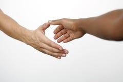 isolerad handskakning Royaltyfri Foto