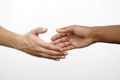 isolerad handskakning Royaltyfria Bilder