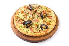 Isolerad havs- italiensk pizza Royaltyfri Fotografi