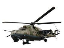 Isolerad helikopter Mi-24V Mi-35 Royaltyfri Fotografi
