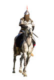 isolerad horserider Royaltyfria Bilder