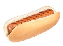 isolerad hotdog Fotografering för Bildbyråer