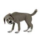 isolerad hund royaltyfri illustrationer