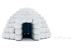 isolerad igloo Royaltyfri Bild