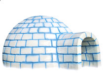 isolerad igloo Royaltyfria Foton