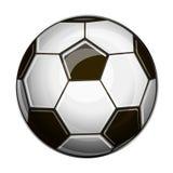 Isolerad illustration av den svartvita fotbollbollen vektor illustrationer