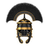 Isolerad illustration 3d av en Roman Helmet Royaltyfria Bilder