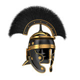 Isolerad illustration 3d av en Roman Helmet Royaltyfri Bild