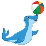 Isolerad illustration för havskalvvektor vektor illustrationer