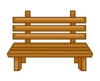 Isolerad illustration för träbänk Arkivbilder
