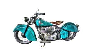 Isolerad indisk motorcykel på en vit bakgrund Royaltyfri Fotografi