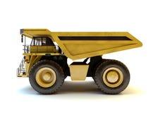 Isolerad industriell lastbil för Dumper Arkivbild