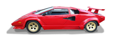 Isolerad italiensk exotisk supercar arkivfoton