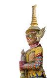 Isolerad jätte- förmyndare på Wat Pra Keaw Royaltyfria Bilder