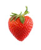 isolerad jordgubbe Arkivfoto
