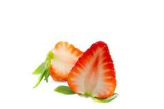 isolerad jordgubbe Royaltyfria Bilder