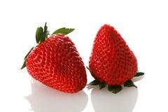 isolerad jordgubbewhite fotografering för bildbyråer