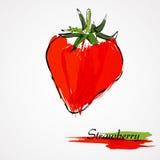 isolerad jordgubbewhite för bakgrund frukt Royaltyfria Bilder