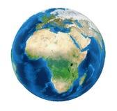 Isolerad jordjordklotAfrika sikt vektor illustrationer