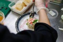 isolerad kökwhite för bakgrund kock Arkivfoto