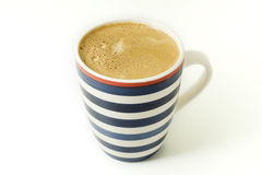 isolerad kaffekopp Fotografering för Bildbyråer