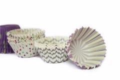 Isolerad kaka för pappers- kopp Royaltyfri Bild