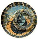 isolerad kalenderklocka Arkivfoto