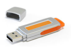 isolerad key usb-white Royaltyfria Bilder