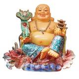Isolerad kinesisk Buddha Arkivfoto