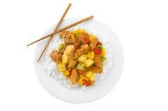 isolerad kinesisk mat Fotografering för Bildbyråer