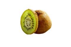 Isolerad Kiwi Fruit skiva Fotografering för Bildbyråer
