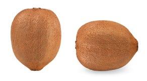 isolerad kiwi Kiwier som isoleras på vit bakgrund med den snabba banan Royaltyfri Fotografi