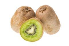 isolerad kiwiwhite för bakgrund ny frukt Royaltyfri Fotografi