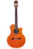 isolerad klassisk gitarr royaltyfria bilder