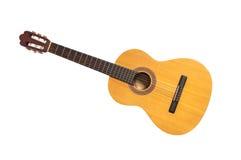 Isolerad klassisk gitarr Arkivfoto