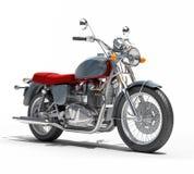 Isolerad klassisk motorcykel Arkivbilder