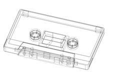 Isolerad klassisk ritning för kassett 3D - vektor illustrationer