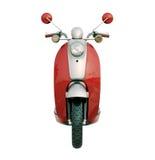 Isolerad klassisk sparkcykel Royaltyfri Fotografi