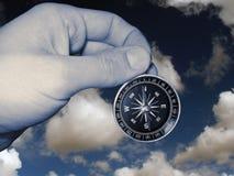 isolerad kompasshand Arkivfoton