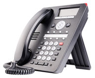 Isolerad kontorsIP-telefon Arkivfoto